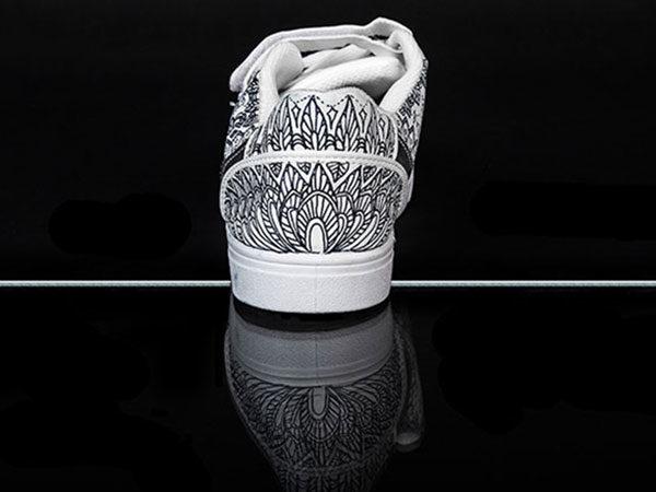 Baskets customisées La Basquetteuse