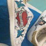 baskets custom Les Tatas Flingueuses