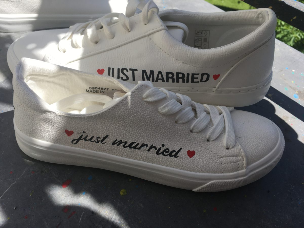 Just Married - basket customisée